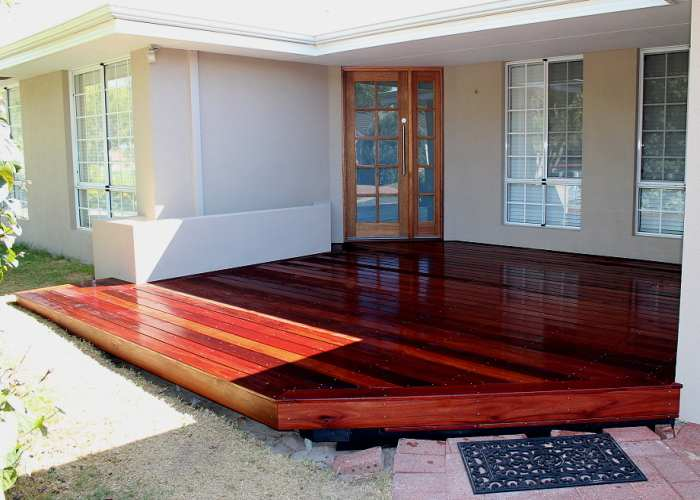Jarrah timber deck 1